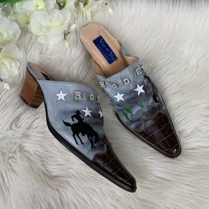 Shoes - Via Couture Rodeo Mules 9 1/2 M
